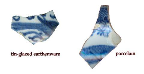 tin-glazed earthenware and porcelain